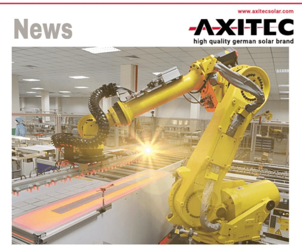 AXITEC: production facilities in Asia are running almost at full capacity again